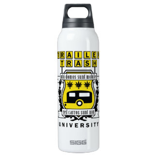 TRAILER TRASH UNIVERSITY 16 OZ INSULATED SIGG THERMOS WATER BOTTLE