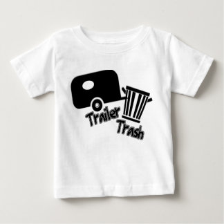 Trailerpark Living!  Funny Trailer Trash Icons Baby T-Shirt
