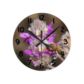 Trailing Indigo Bush with a Bee Wall Clock