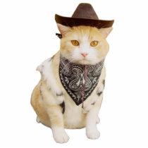 Trailrider Cowboy Kitty Statuette