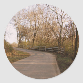 Trails though the Woods Classic Round Sticker