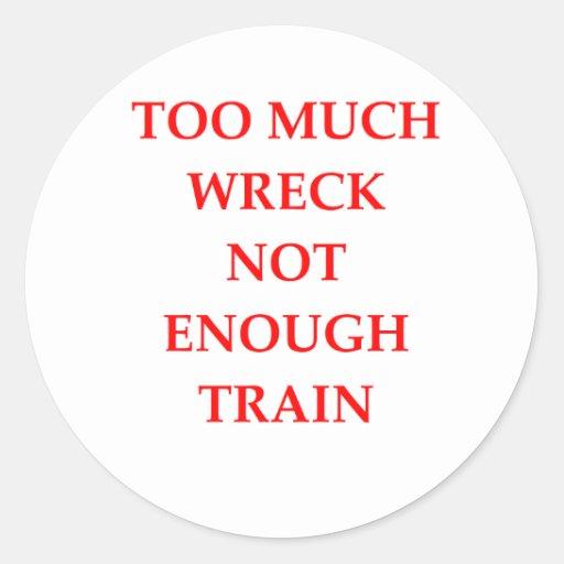 traim wreck stickers