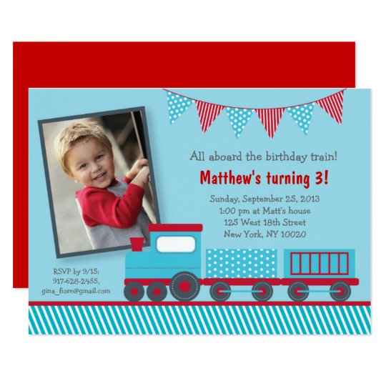 Train 1st Birthday Card