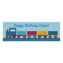 Train 1st Birthday Welcome Poster