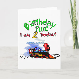 Train 2nd Birthday Tshirts And Gifts Card