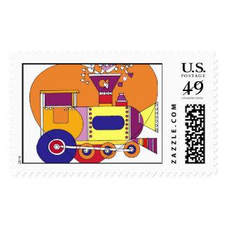 train 300dpi stamp