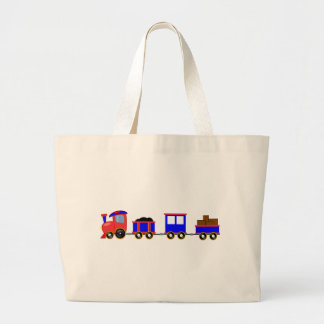 train-312107 train cartoon toy engine cars red blu canvas bags