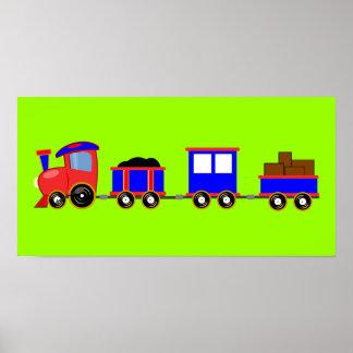 train-312107 train cartoon toy engine cars red blu poster