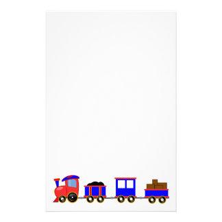 train-312107 train cartoon toy engine cars red blu custom stationery