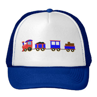train-312107 train cartoon toy engine cars red blu trucker hat