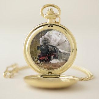 Train 34 & Numeral Option Pocket Watch