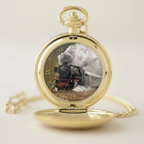 Train 34 & Numeral Option Pocket Watch