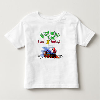 Train 3rd Birthday Tshirts and Gifts