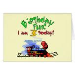 Train 3rd Birthday Tshirts and Gifts Card