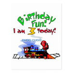 Train 3rd Birthday Tshirts and Gifts Postcards