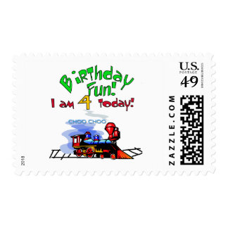 Train 4th Birthday Tshirts and Gifts Postage