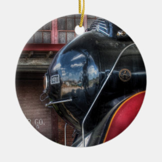 Train - 611 - NW - J Class - Steam 4-6-4 Double-Sided Ceramic Round Christmas Ornament