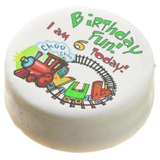 Train 6th Birthday Dipped Oreos Chocolate Covered Oreo