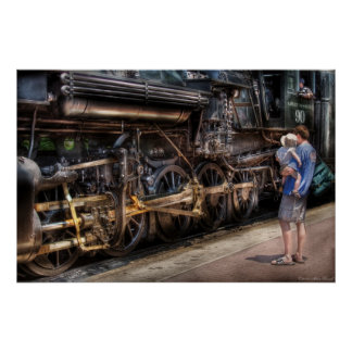 Train - 90 Great Western - All Aboard Poster