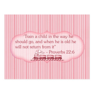 Train a Child Postcard