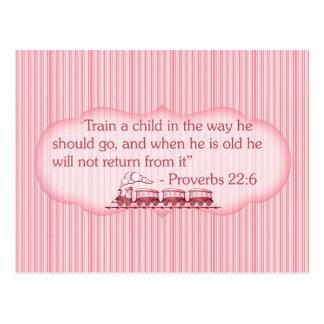 Train a Child Postcard