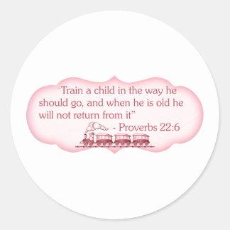 Train a Child Round Stickers