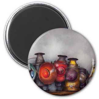 Train - A collection of Rail Road lanterns 2 Inch Round Magnet