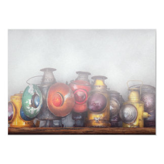 Train - A collection of Rail Road lanterns Card
