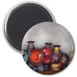 Train - A collection of Rail Road lanterns Refrigerator Magnet