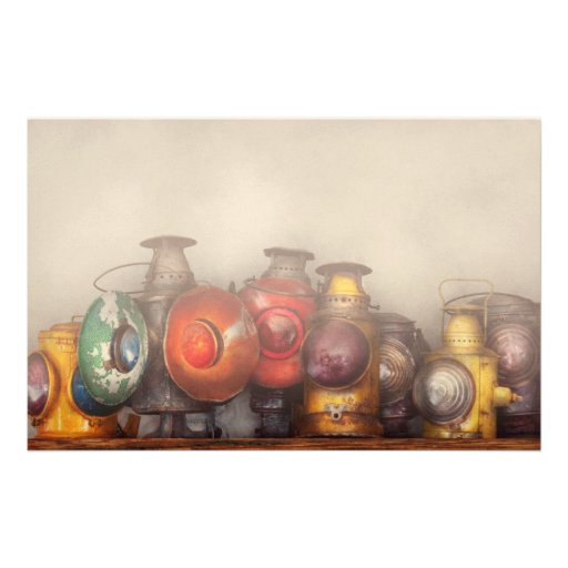Train - A collection of Rail Road lanterns Stationery Paper