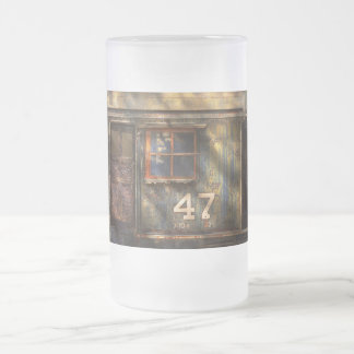 Train - A door with character Frosted Glass Beer Mug