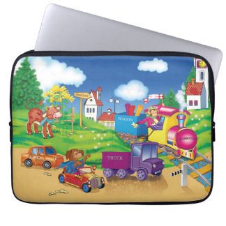train and car laptop sleeve