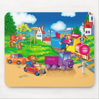 train and car mousepads