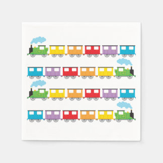 Train and Carriages Paper Napkins