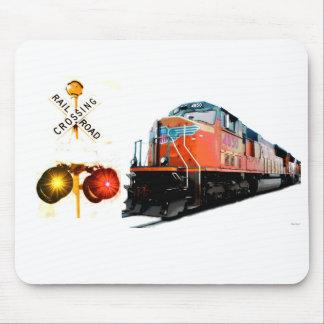 Train And Railroad Signal Mouse Pad