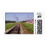 train and tracks 2 stamp