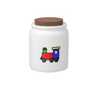 TRAIN APPLIQUE CANDY JAR