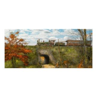 Train - Arlington, NJ - Enjoying the Autumn Day Rack Card Design