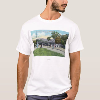 Train Arrival at Boyes Hot Springs T-Shirt
