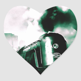 Train Art Heart Sticker