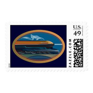 Train Art Stamp