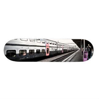 Train at station in Switzerland Skateboard