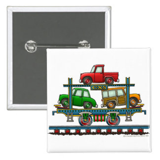 Train Auto Carrier Car Railroad  Car Pins