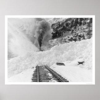 Train Avalanche Alaska 1916 Poster