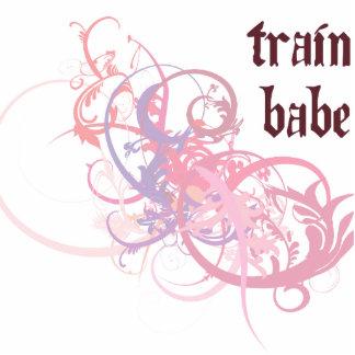 Train Babe Photo Sculpture Ornament