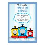 Train Birthday Custom Announcement
