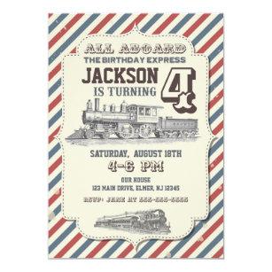 Vintage Train Invitations Zazzle