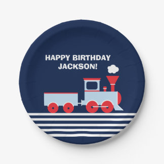 "Train Birthday Paper Palte 7"" Paper Plate"