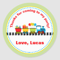 Train Birthday Party Favor Stickers
