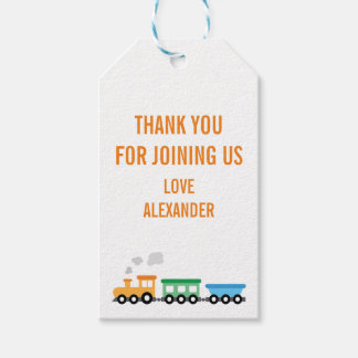 Train Birthday Party Gift Tags